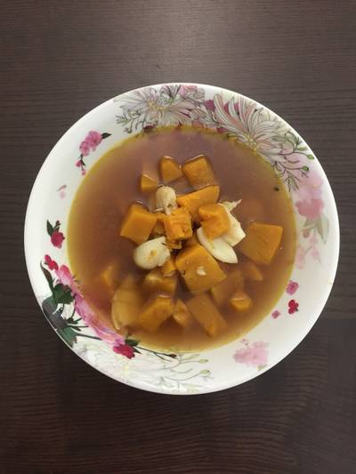 Plain pumpkin soup