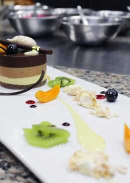 Three-layered Chocolate Mousse Cake