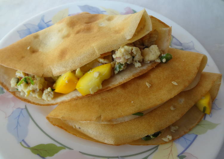 Whole wheat Savory Crepes with Egg Filling