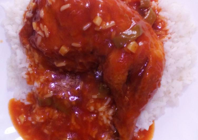 Chicken Quarters White Rice Recipe By Miggy Loves Food Cookpad