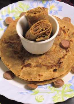 Ramadan Special - Stuffed Chicken Sausage Paratha
