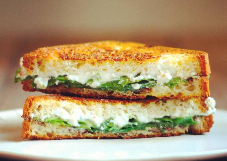 Truffled ricotta + arugula grilled cheese