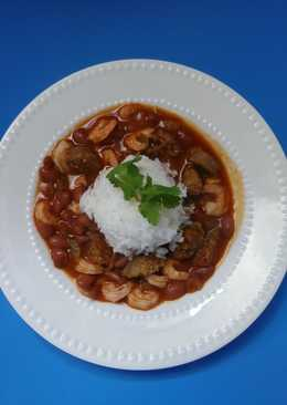 G's SMOKED CAJUN RED BEANS & RICE WITH SHRIMP & SAUSAGE (Easy)