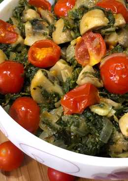 Mushroom Methi With Cherry Tomatoes – Perfect Winter Lunch Recipe