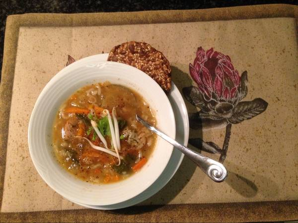 Winter Beef and veggie soup