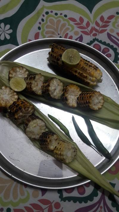 # monsoon bites #roasted corn cob