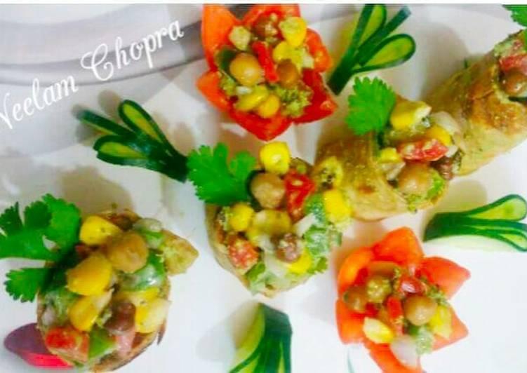 Healthy Corn Chana Chapati Roll Recipe by Neelam Chopra