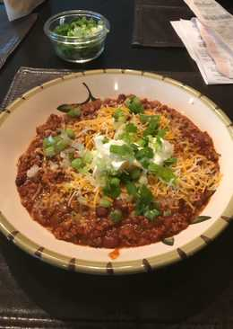 Julie's almost healthy crock pot turkey chili