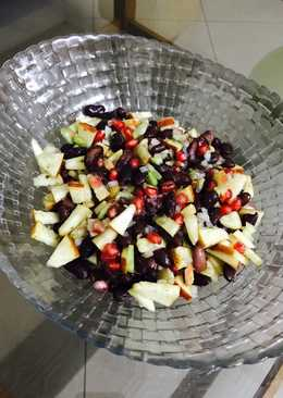 Red beans mixed fruit salad
