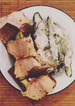 Red fish Smørrebrød med Agurksalat (cucumber salad)