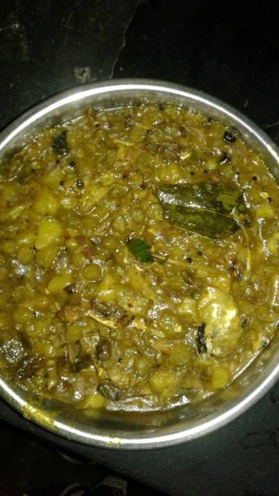 Bhanga sukto(broken curry with fish head portion)