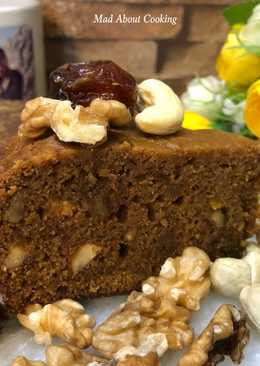 Whole Wheat Date Jaggery Walnut Cake – No Sugar Treat Christmas Special