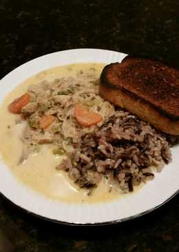 Brad's cream of turkey soup with wild rice