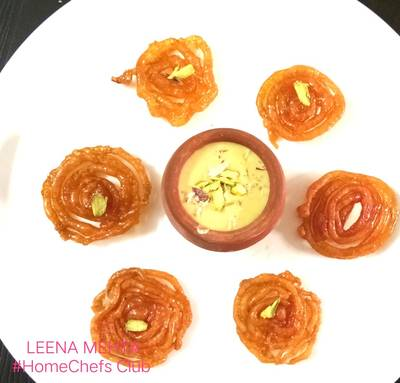 Jowar jalebi with rabdi