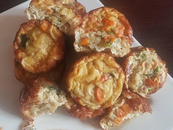 Noodles egg muffins #noodlesrecipecontest
