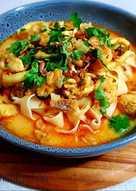 resep masakan laksa rice noodle soup