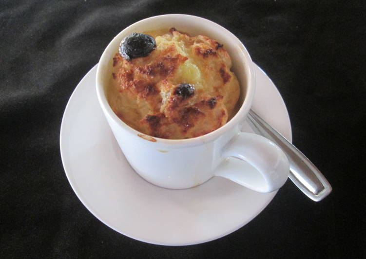 Bread And Banana Tea Cup Pudding