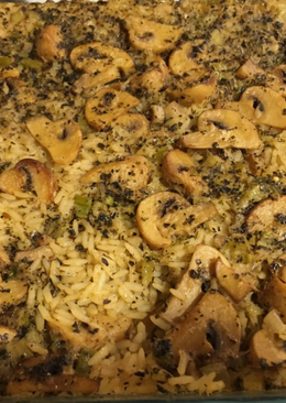 Baked Mushrooms Rice
