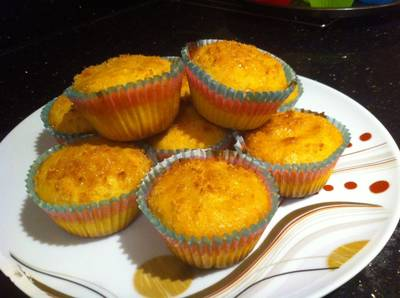 Carrots and coconut muffins