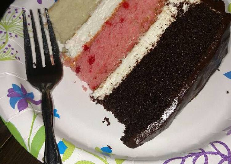 Neapolitan dream cake