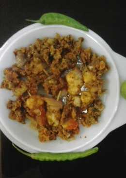 Ginger garlic sauce with magic prawns pick