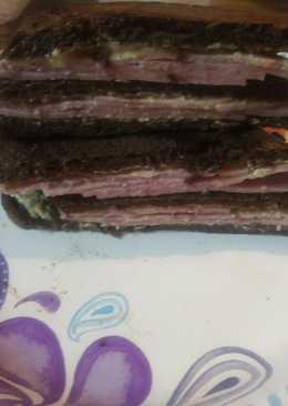 Chopped Ham on Pumpernickel