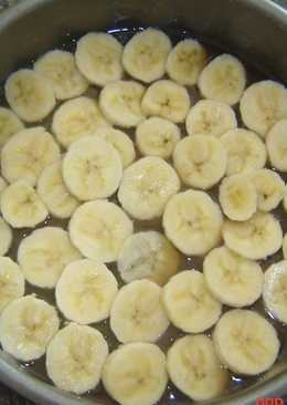 Banana upside down cake (Low Fat)