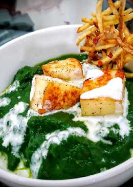 Palak Paneer/Spinach Gravy with Cottage Cheese