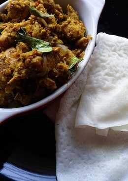Neer dosa and Sukka chicken