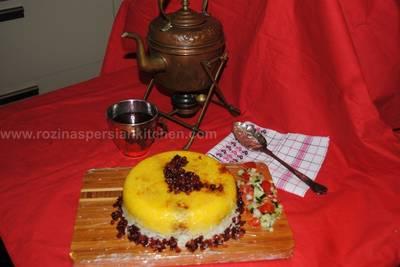 Persian upside down rice (Tahchin-e Morgh)