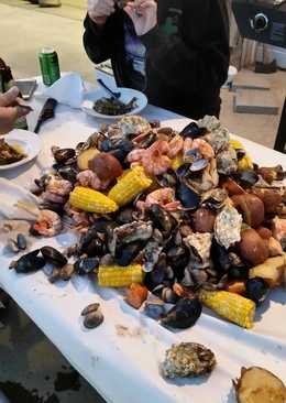 Brad's southern boil with a pacific nw flair