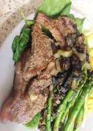 My Buttered Garlic Grilled Sirloin Steak. 😉