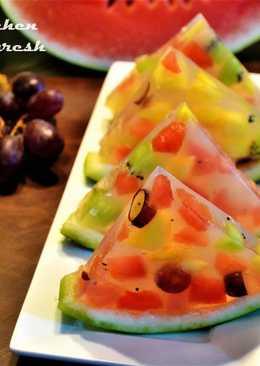 Fresh Fruits Jello Dessert
