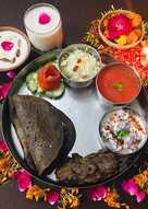 Kuttu wraps with potato paneer filling