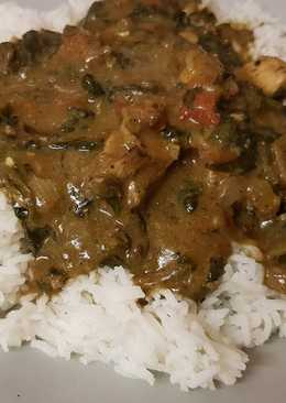 My Chicken & Spinach Curry with Basmati Rice 😘