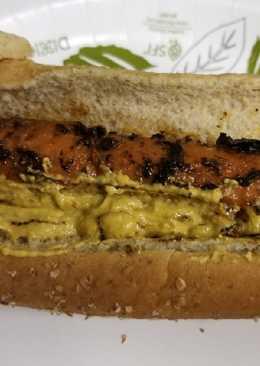 Smoky Carrot Dogs w/ nacho sauce (vegan)
