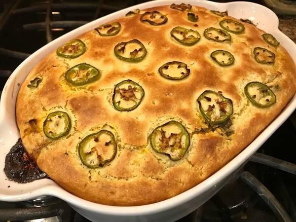 Tacofiesta Leftovers Cornbread Tamale Pie Type Thingy