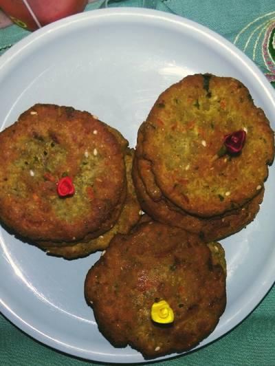 Baked Oats Salty Mathri