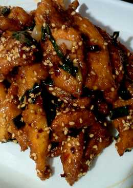 Crispy Honey Chilli Chicken :)