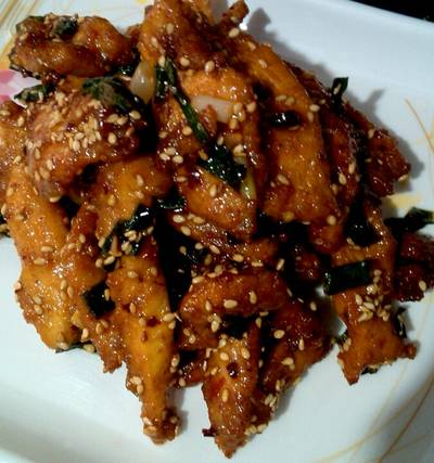 Crispy Honey Chilli Chicken :)