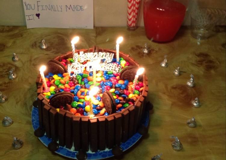 Kit Kat Birthday Cake Recipe By Crystalbroadus1979 Cookpad