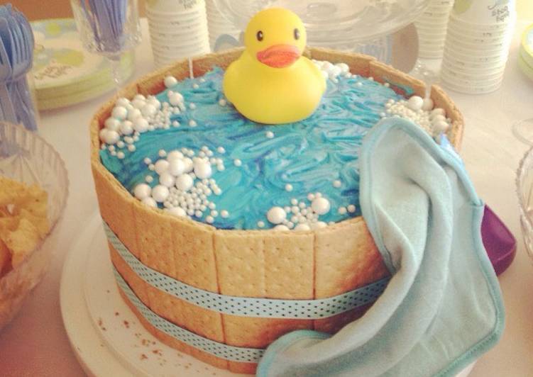rubber ducky baby shower cake recipe by grace windu cookpad