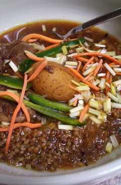 resep masakan beef shank and barley soup