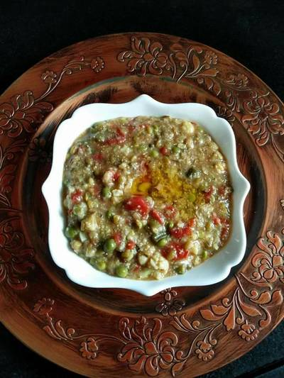 Mixed vegetables bajra khichdi