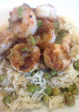 Salt and Pepper Shrimp / Prawn with Basmati Rice