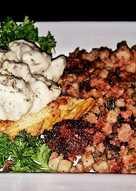 resep masakan mikes military sos gravy thick toast corn beef hash