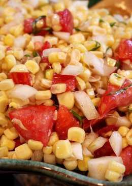 Simple Fresh Corn & Tomato Salad