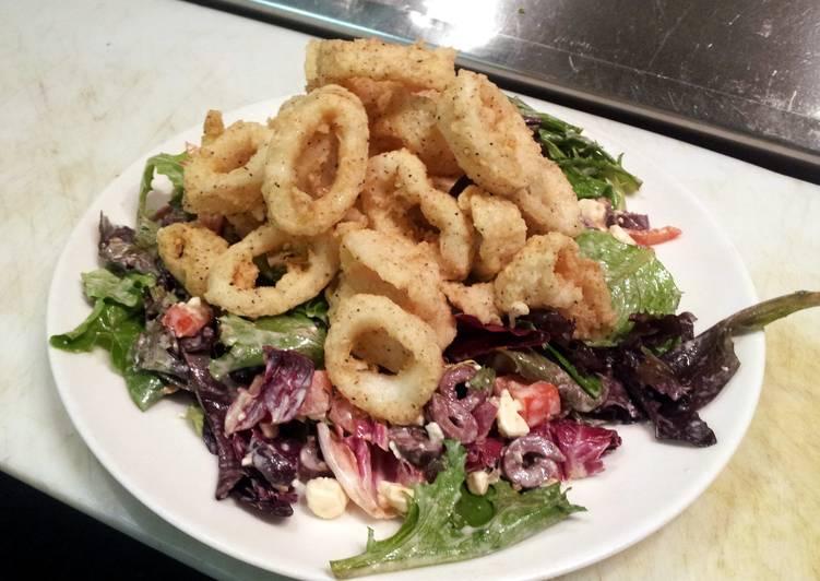 Fried Calamari Salad Recipe By Chef Valentine Cookpad