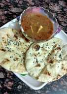 Paneer masala curry with butter naan