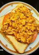 Simple Sloppy Joe Toppings on Toast (sandwich)